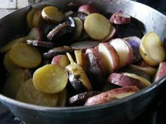 Pastel potatoes for Easter dinner...