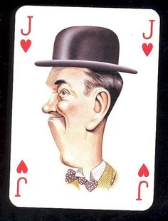 Stan Laurel Movie Film Star Caricature Playing Card Laurel and Hardy