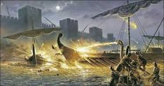 The horror of burning to death by Greek Fire would have given the Byzantines a huge edge in battle.