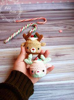 Christmas deer cupcake amigurumi pattern
