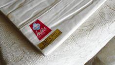 Vintage French Linen 'Fleur Bleue' Metis Sheet by LaCassoulere, €55.00 SOLD