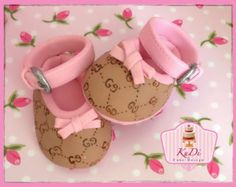 Items similar to Gucci baby booties shoes Cake Topper fondant on Etsy Fondant Tips, Fondant Baby, Gucci Baby, Cute Baby Shoes, Fondant Cake Toppers, Recipe Notes, Savoury Cake, Cake Pans, Baby Booties