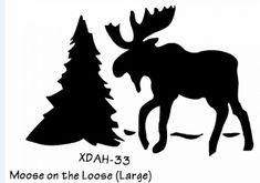 journaling Stencils | how to stencil bears moose on wood red cap work wear pietroski ...
