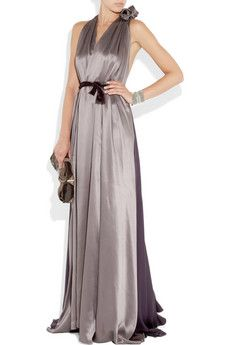 ROKSANDA ILINCIC  Two-tone silk-satin gown  $2,045  Is that all that dress costs?