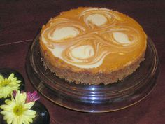 Mystery Lovers' Kitchen: Pumpkin Swirl Cheesecake: the thanksgiving dessert that lets the cook relax too