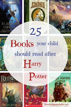 25 Books Your Child Should Read After Harry Potter: Your reluctant reader has finished the Harry Potter series...um...now what? Here they are all glassy eyed and full of wonder from their journey into Hogwarts and Diagon Alley. They are simply unwilling to come back to the muggle world, but instead wish to stay in the realm of fantasy and adventure.