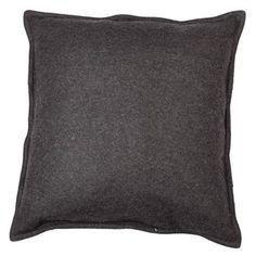 PC 4003. Putetrekk, 50x50 cm, ull, mørk grå Manhattan, Throw Pillows, Products, Fashion, Palms, Black, Nice Asses, Colors, Moda