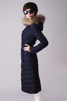 2013 New! Moncler Outlet GAMME ROUGE Over Knee Long Down Coat Fu
