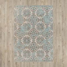 You'll love the Clotilde Teal/Beige Area Rug at Wayfair - Great Deals on all Décor  products with Free Shipping on most stuff, even the big stuff.