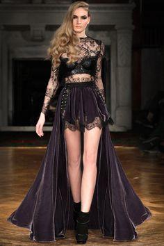 Kristian Aadnevik...lace, leather, studs, velvet.