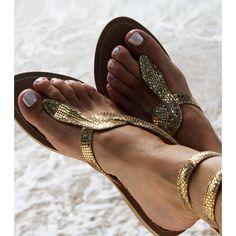 Cobra Gold Wrap Sandals