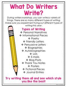 Reasons to Learn Spanish – Learn Spanish Personal Narrative Writing, Essay Writing Skills, English Writing Skills, Book Writing Tips, Writing Lessons, Kids Writing, Teaching Writing, Writing Activities, Creative Writing