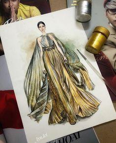 Love Illustration, Illustration Artists, Fashion Illustration Dresses, Fashion Illustrations, Fashion Art, Fashion Models, Sparkling Lights, Fashion Design Sketches, Print Pictures