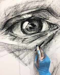 """☾T h i s i s g o s p e l☽ @sofiloera Elly Smallwood (@ellysmallwood) on Instagram: """"Charcoal sketch on a new painting"""""""