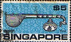 Singapore 1968 Musical Instument Vina Fine Used                    SG 114 Scott 110 Other Asian and British Commonwealth Stamps HERE!