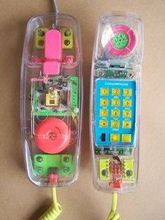 see-through phone, I totally had one of these! Wonder where it is????