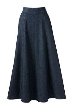 Women's Plus Size Boot Skirt - Denim