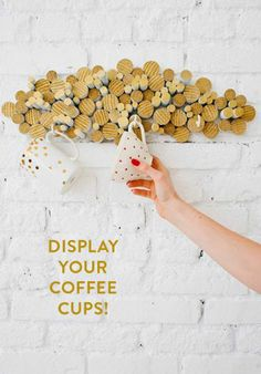Diy 3d wooden cloud, coffee cup holder