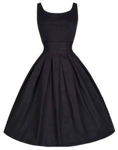 Vintage Scoop Neck Solid Color Beam Waist Sleeveless Dress For Women Vintage Dresses | RoseGal.com Mobile