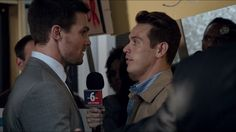 Stephen Amell and Kevin Alejandro #Arrow