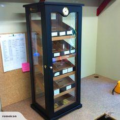 Large humidor cigar display cabinet