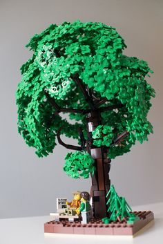 Old Lime Tree - LEGO MOC You are in the right place about diy face mask sewing pattern Here we offer you the most b - Lego Robot, Lego Duplo, Lego Flower, Lego Humor, Lego Winter Village, Lego Tree, Lego Universe, Lego Pictures, Lego Craft