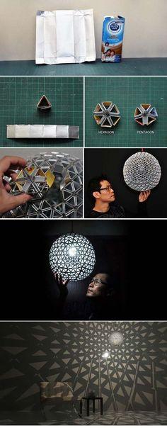 14 kreative Ideen für selbstgemachte Lampenschirme