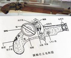 A type of self igniting matchlock invented by Kume Michikata, who has been called the Japanese Leonardo da Vinci.