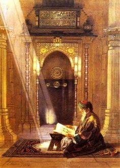 "Osman Hamdi ""Kuran Okuyan Adam"" | Kanvas Tuval Tablo"