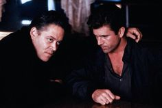 Raul Julia and Mel Gibson, Tequila Sunrise Tequila Sunrise 1988, Tequilla Sunrise, 80s Movies, Action Movies, Movie Tv, Raul Julia, Two Of A Kind, Mel Gibson, Inner Child