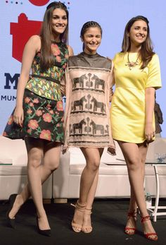 3 cuties: Kriti Sanon, Alia Bhatt and Parineeti Chopra at the MAMI Movie Mela.