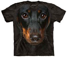 Dog T-Shirt   Dachshund Head Adult