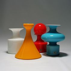 """Per Lütken, vases from the """"Carnaby"""" series for Holmegaard, 1968"""
