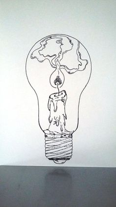 "What if there was a tiny lighthouse inside of every light bulb?What if there was a tiny lighthouse inside of every light bulb? lightbulb drawing lighthouseAffiche Illustration Noir et blanc ampoule ""tenir une Inspiration Art, Art Inspo, Drawing Sketches, Cool Drawings, Drawing Tips, Sketching, Drawing Designs, Pretty Drawings, Drawing Poses"