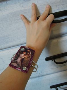 Waterhouse Art Cuff Bracelet. Can be made in any color scheme, on adjustable cuff bracelet. Order at www.dreamalittled...