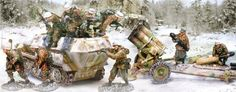 World War II German Winter set 1 - Made by The Collectors Showcase Military Miniatures and Models. Factory made, hand assembled, painted and boxed in a padded decorative box. Excellent gift for the enthusiast.