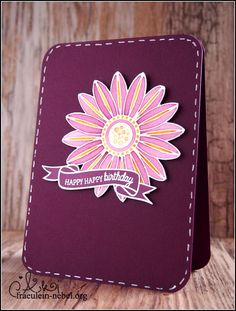handgemachte Geburtstagskarte mit Ranger und Create a Smile | fraeulein-nebel.org Ranger, Cardmaking, Card Holder, Happy Birthday, Cards, Handmade Birthday Cards, Mists, Xmas Cards, Homemade