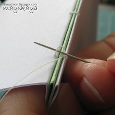 Tutorial: How to stitch book binding. Great photos, step by step directions.
