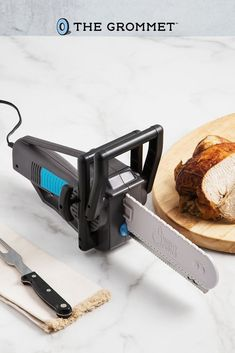 This electric carving knife gets the party started, whether it's Thanksgiving, a holiday feast, a dinner party, or another get-together. An ergonomic handle gives you comfort and control, and stainless-steel blades slice through meat, bread, fruit and more. Blades are dishwasher safe for easy cleaning. Carve through turkey, ham, melons, tomatoes, pineapples, potatoes, loaves of bread and more with ease. This makes the perfect gift for the man of the house or any meat lover!