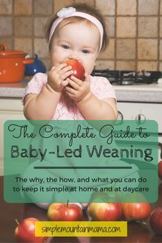 We're loving baby led weaning and seeing Eden actually chew her food apart wish I had did this with my 2 older kids. Complete Guide to Baby-Led Weaning - A MUST READ