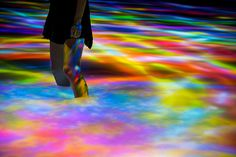 Teamlab, Drawing on the water surface, 2016, Tokyo