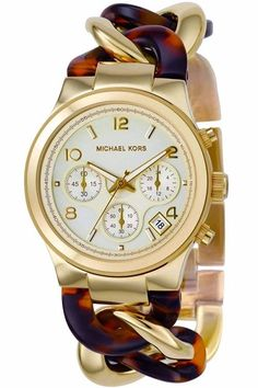 5cb0ea25c2560 Michael Kors Damenuhr Uhr MK4222 Gold Braun Gold Women Ladies Watch  Goldschmuck