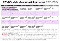 Black Women Lost Weight - July 2015 Challenge Calendar