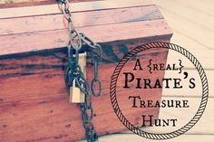 A Pirate's Life for Three // A real pirate scavenger hunt where kids find burried treasure in the sand.