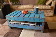 PEACOCK FEATHER DESIGN RUSTIC RECLAIMED WOOD COFFEE TABLE HANDCRAFTED TO ORDER