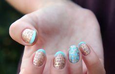 Reptilian nail art idea