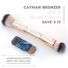 Cayman Bronzer and B Squared Brush Bundle