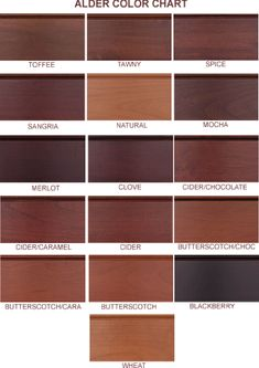 Knotty Alder Color Board Ideas For The House Pinterest Stains Colors A