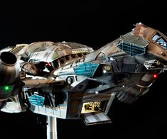 Film-scale Serenity Replica Costs as Much as a Nice Used Car - Technabob Firefly Serenity, Fireflies, Book Nooks, Diorama, Action Figures, Fiction, Sci Fi, Scale, Gaming