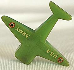 Vintage Pencil Sharpener: Bakelite Green Plane